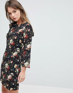 Read more about Oasis rose print flute sleeve shift dress - floral
