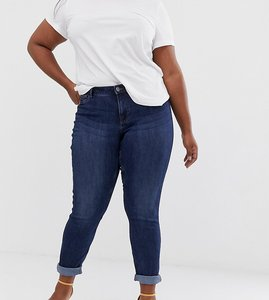 Read more about Junarose organic wash detail skinny jeans - dark blue denim