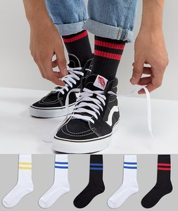 Read more about Asos sports style socks with colour pop stripes 5 pack - multi