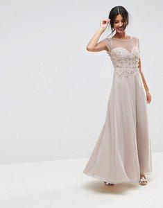 Read more about Asos floral applique 3d embellished maxi dress - ivory