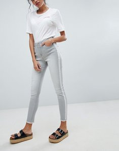Read more about Brooklyn supply co skinny ankle grazer jeans with side stripe - washed grey