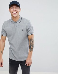 Read more about Fred perry twin tipped polo shirt in grey marl - 420