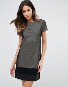 Read more about Vesper metallic shift dress with contrast bottom - gold