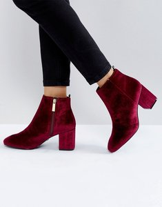 Read more about Ivyrevel velvet heeled ankle boot - burgundy