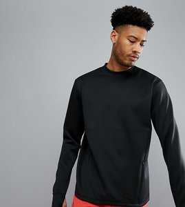 Read more about Asos 4505 tall sweatshirt in 4 way stretch jersey - black