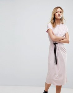 Read more about Cheap monday side tie midi dress - pale pink