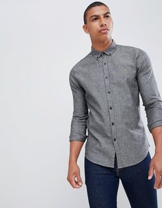 Read more about Farah steen slim fit textured shirt in grey - grey