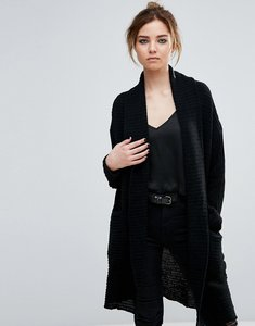 Read more about John jenn felix velvet tubular yarn duster cardigan - 001 caviar
