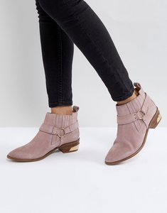Read more about Office atlas blush suede western boots - pink