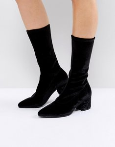 Read more about Vagabond mya black velvet sock boots - black velvet