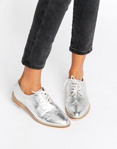 Read more about Asos mai leather brogues - silver