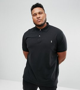 Read more about Polo ralph lauren plus polo shirt with logo in black - polo black