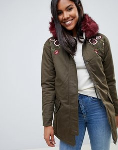 Read more about Bellfield embroidred parka - light khaki