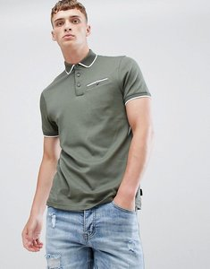 Read more about Ted baker cotton tipped collar polo shirt - khaki