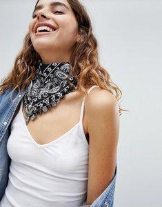 Read more about Asos triangle embellished bandana - black