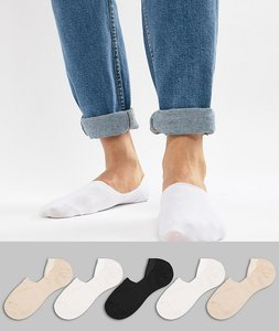 Read more about Asos design invisible liner socks in essential colours 5 pack - multi