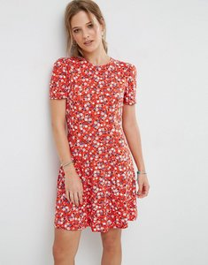 Read more about Asos mini tea dress in floral print - red floral