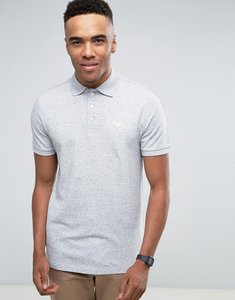 Read more about Abercrombie fitch pique polo slim fit exploded tonal icon in grey marl - grey heather