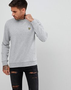 Read more about Lyle scott flecked sweatshirt in grey marl - mid grey marl