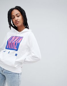 Read more about Nike 90s hoody with graphic logo in white - white