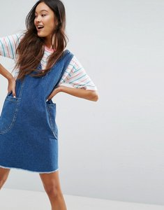 Read more about Asos denim chuck on mini dress in vintage blue wash - blue