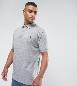 Read more about Polo ralph lauren big tall pique polo slim fit in grey marl - homestead heather