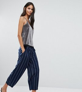 Read more about Y a s tall sheim awkward length pinstripe trouser co-ord - navy