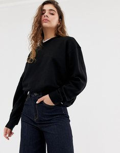 Read more about Weekday huge sweater - black