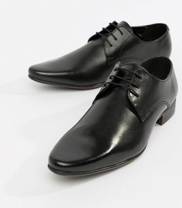 Read more about Asos derby shoes in leather - black leather