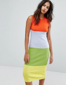Read more about Warehouse premium colourblock sleeveless dress - multi