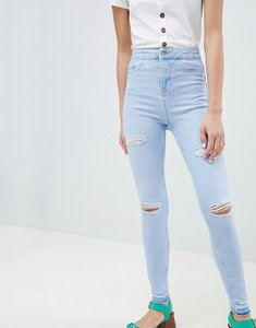 Read more about New look ripped fray hem jean - bleach