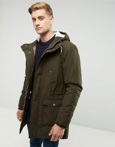 Read more about Esprit fish tail parka with teddy lined hood - olive 360