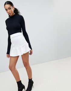 Read more about Prettylittlething flippy hem mini skirt - cream