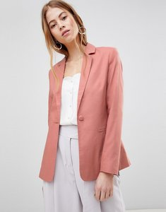 Read more about Asos design tailored single breasted linen blazer - cosmetic pink