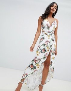 Read more about Asos design slinky occasion maxi dress in floral print - multi