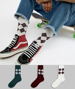 4de1986a6 Read more about Asos design sports style socks in heritage colours with  argyle check design 3