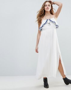 Read more about Raga santorini chest frill maxi dress - eggshell