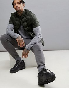 Read more about Asos 4505 packable jacket with quilting in khaki - khaki
