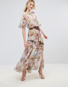 Read more about Traffic people floral belted maxi dress - multi