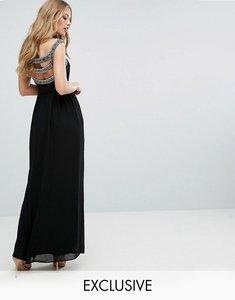 Read more about Tfnc wedding embellished back maxi dress - black
