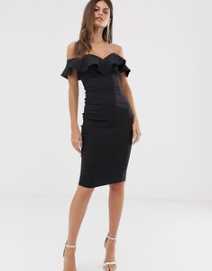 Read more about Vesper bodycon dress with sweetheart neckline with fill in black