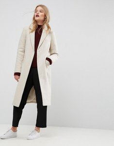 Read more about Asos slim coat in wool blend - oatmeal