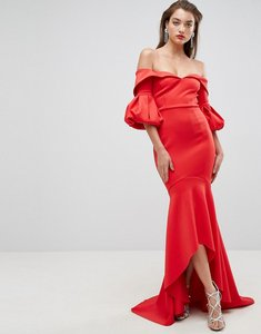 Read more about Asos red carpet scuba maxi dress - red