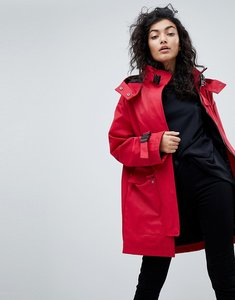Read more about Asos parka with funnel neck and buckles - red