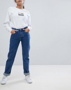 Read more about Calvin klein jeans high rise straight leg jean - christiane blue rgd