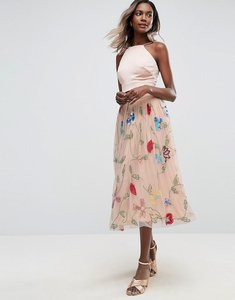 Read more about Asos embellished tulle prom midi skirt - multi