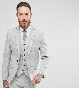 Read more about Heart dagger harris tweed skinny suit jacket - pale grey