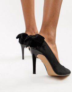 Read more about Head over heels ashleigh bow pointed heels - black velvet