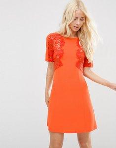 Read more about Asos lace insert shift dress - orange