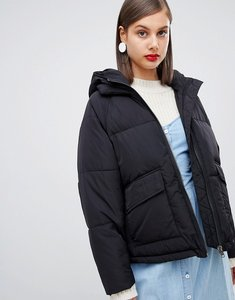 Read more about Moss copenhagen oversized padded jacket with hood - black